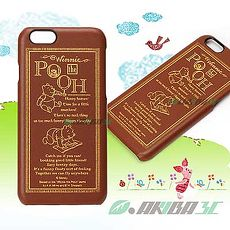 iJacket 迪士尼 iPhone 6/6s 4.7吋 皮革硬式保護殼 - 小熊維尼
